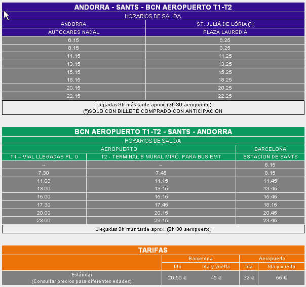 bus times to andorra